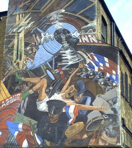 Battle of cable street for Battle of cable street mural